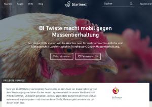 Crowdfunding-Aktion der BI Twiste auf Startnext